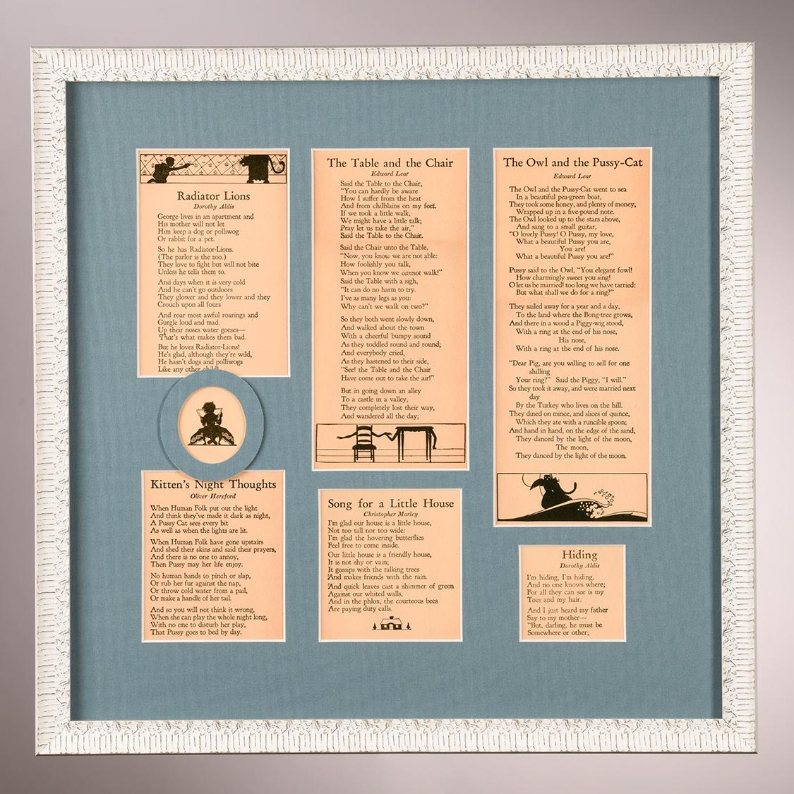 custom framing children's poetry