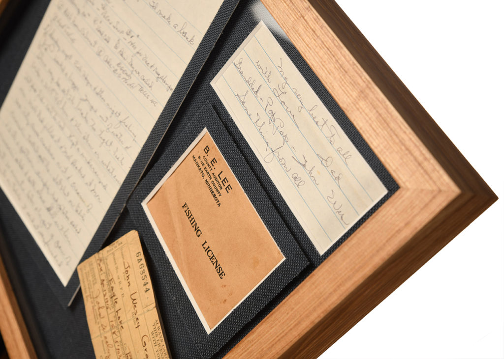 custom framing letters